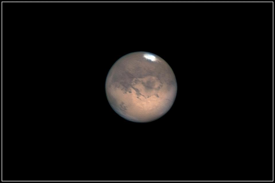 Mars au C14 et à la webcam, 2003.