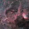 Champ de l'amas NGC6871 à la nébuleuse Sh2-101 traité en HOO