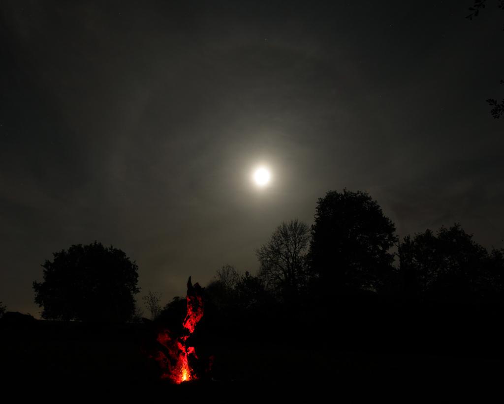 Halo lunaire d'Halloween