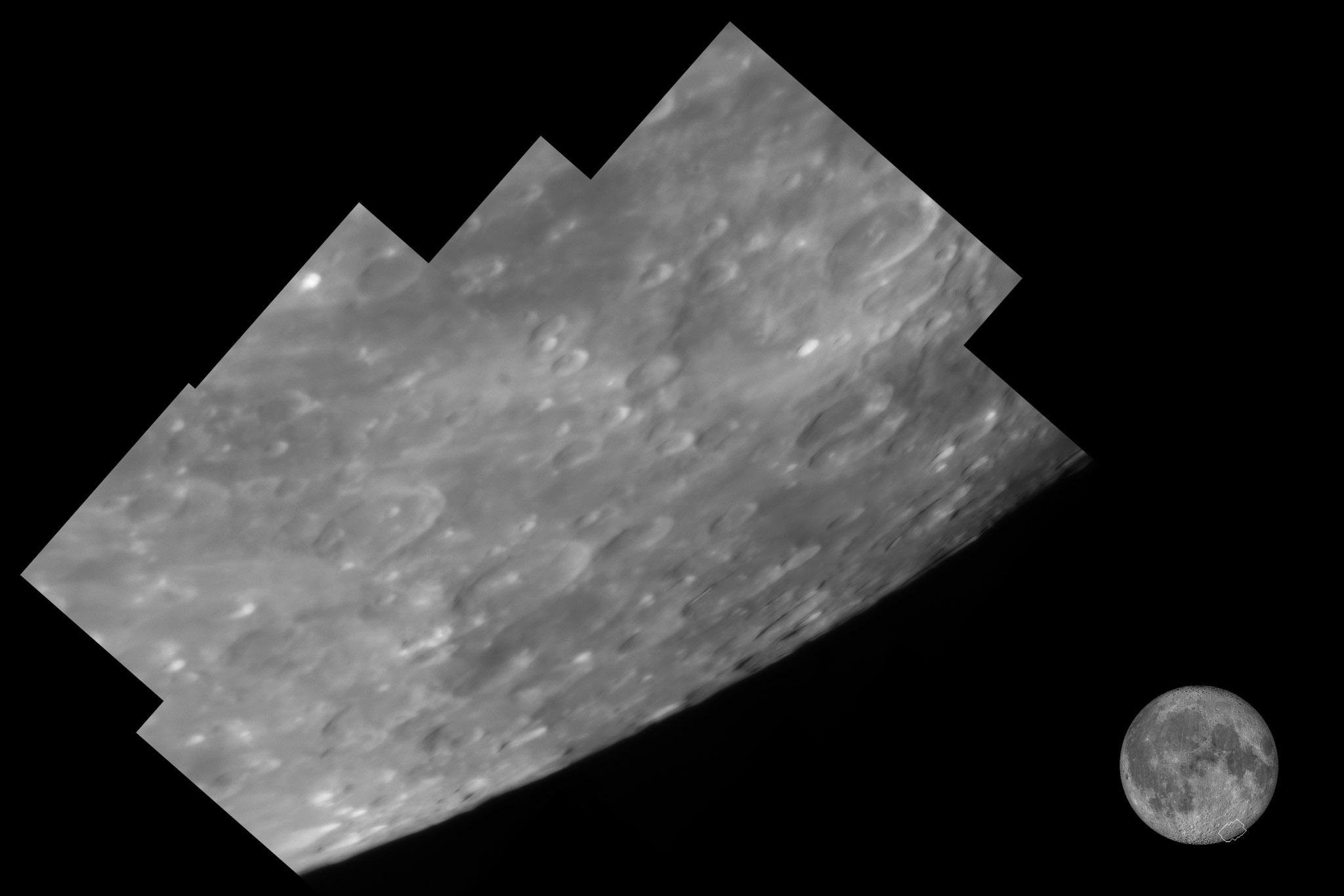 Région du cratère Jansenn, au 355 mm