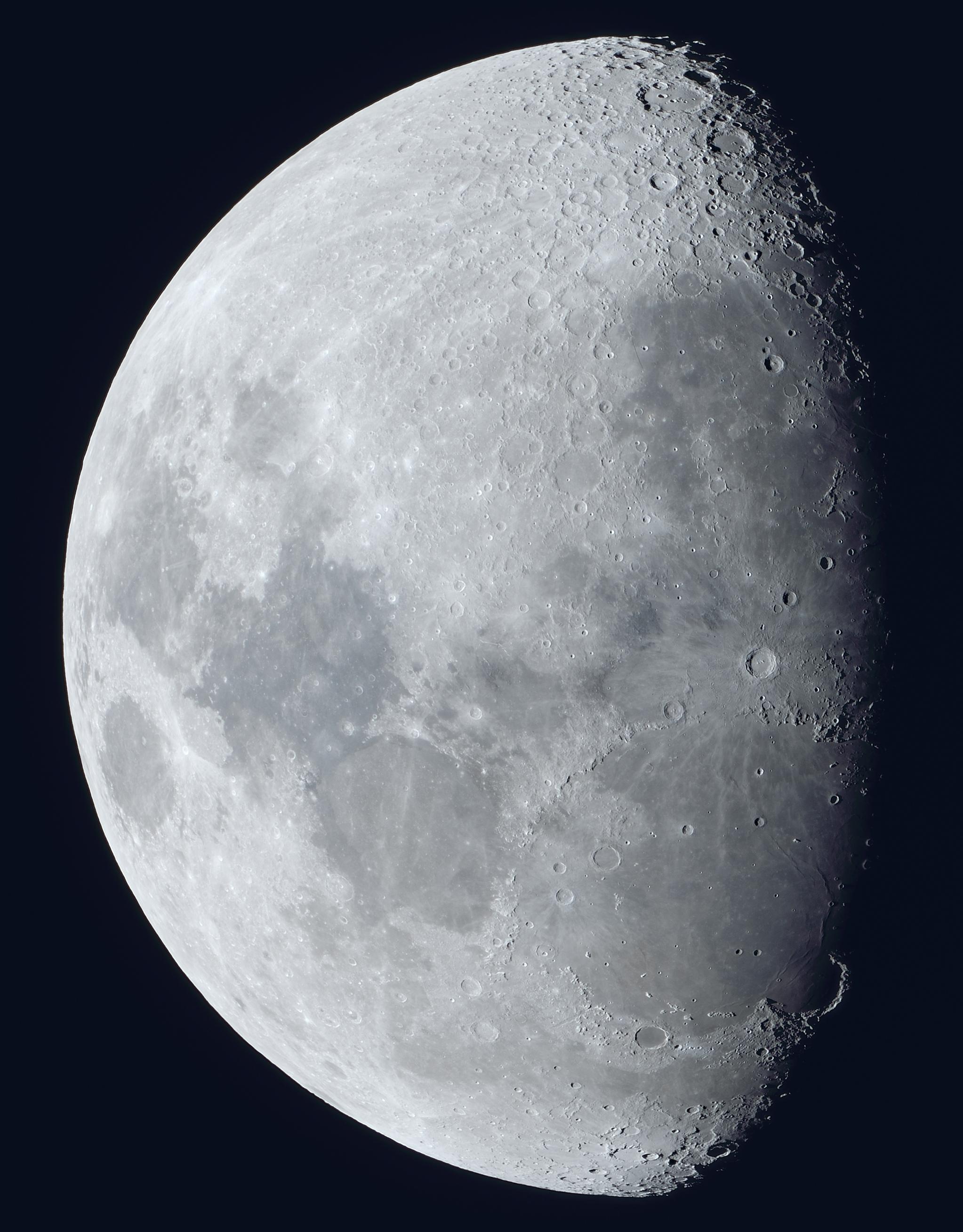 La lune du 28 Novembre, Fluorite FC76 et Nikon D810