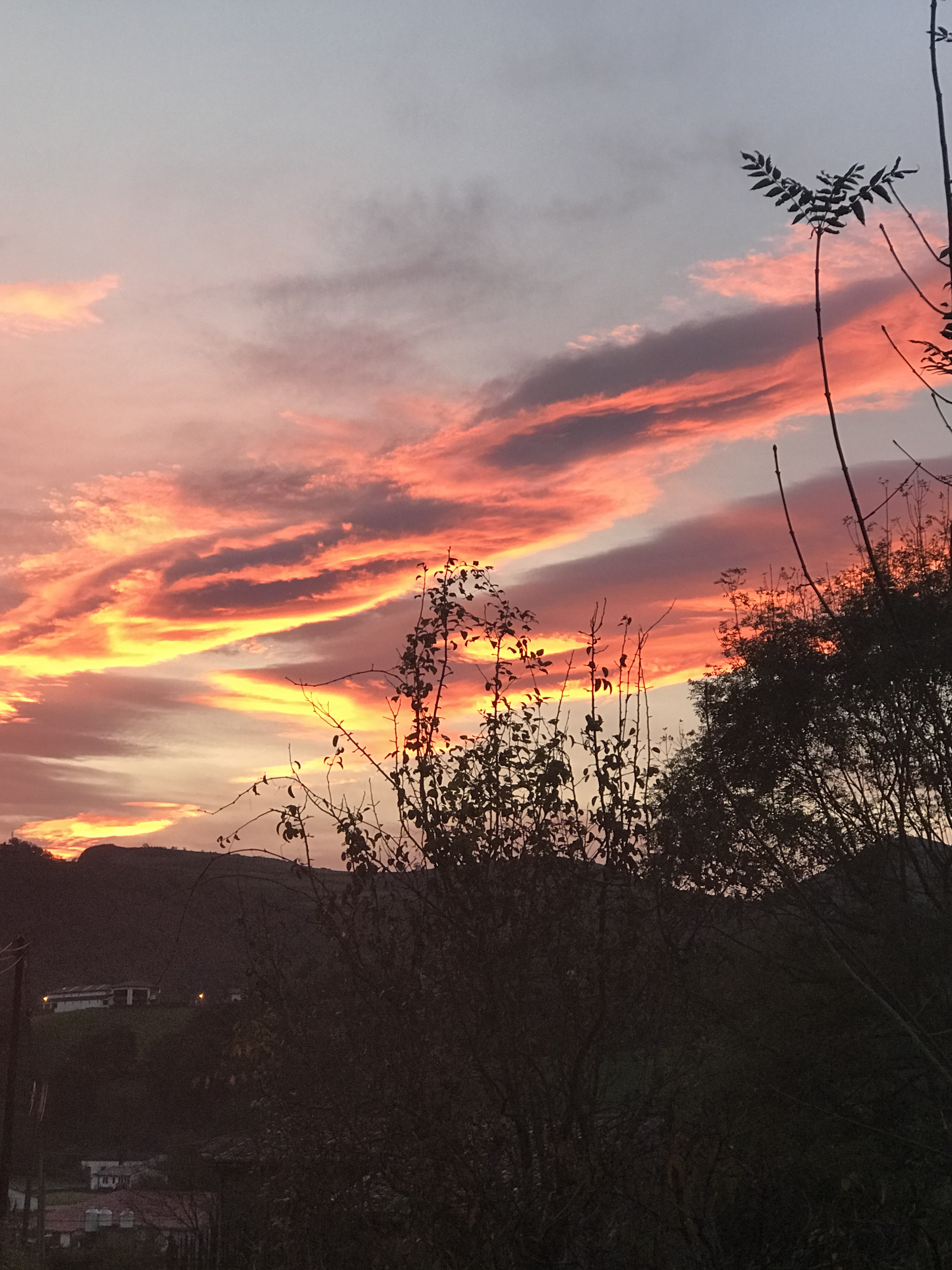 Levée de Soleil - Bidarray (64) - le 2/11/2017 de 7h04 à 7h32