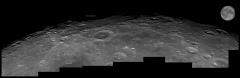 Région Nord-Est du bord lunaire, au 355 mm, anotée