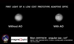 Première lumière de l'optique adaptative du Pic du Midi