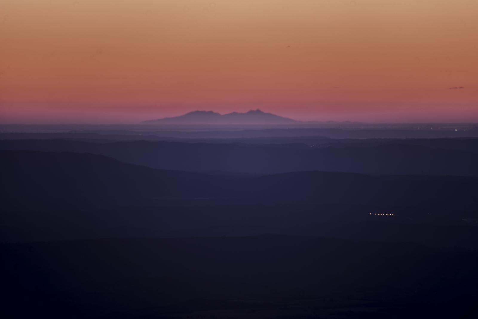 Canigou vu du mont Chiran