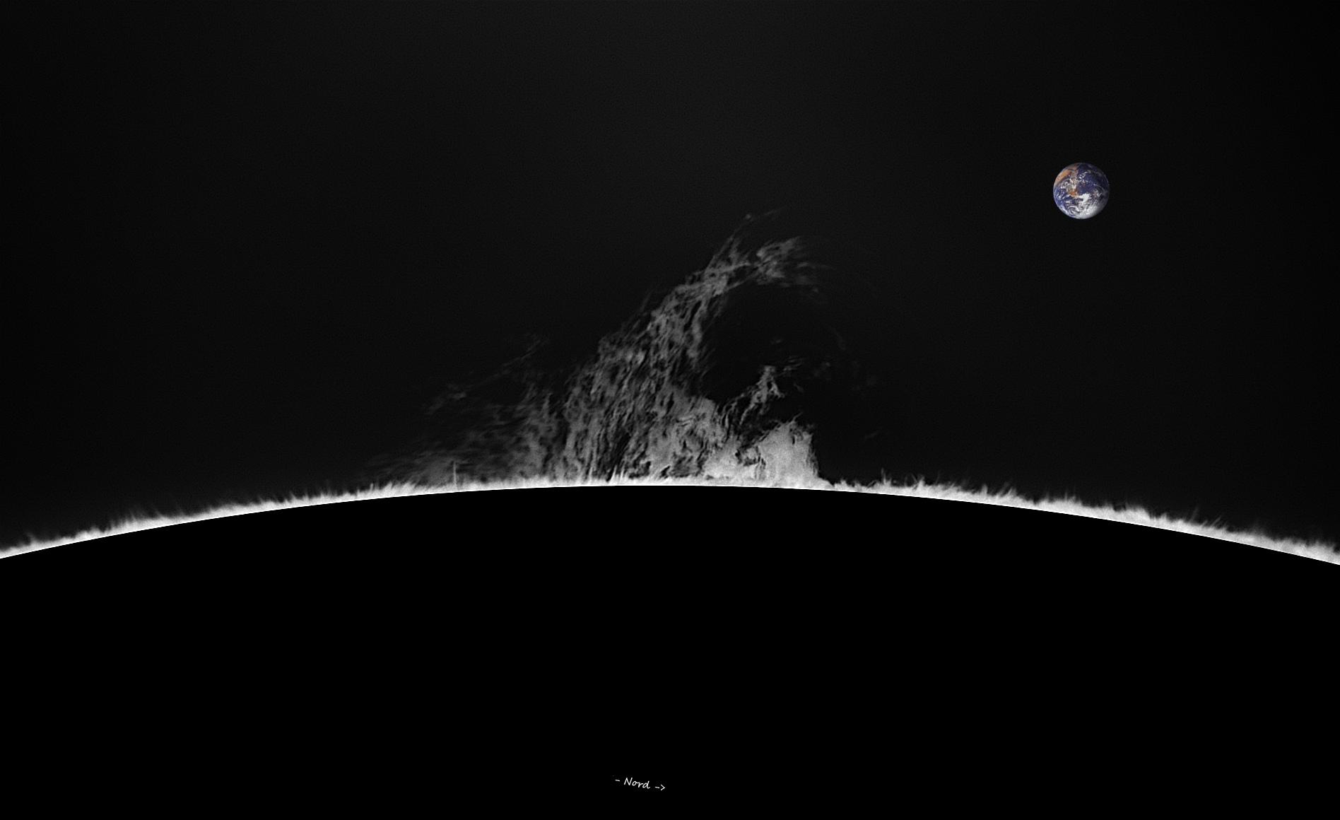Limbe SE - 260° N - 14 décembre 2017