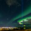 Aurores sur Reykjavik