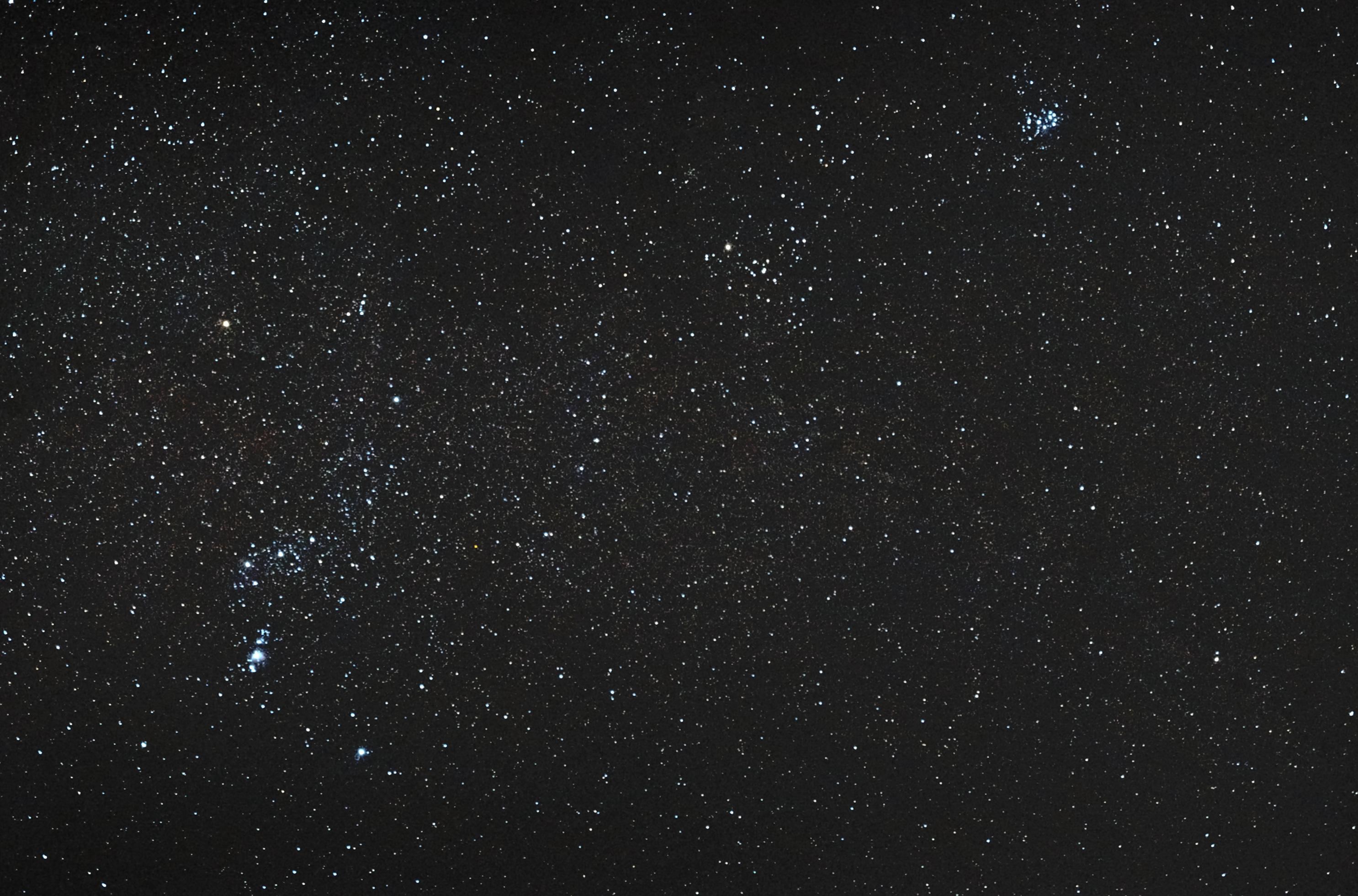 De Orion aux Pleiades