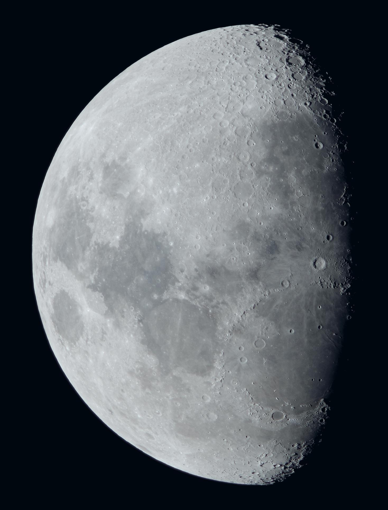 La lune du 26 Janvier au zoom Sigma 120/300 et Nikon D810, à 1200mm de focale