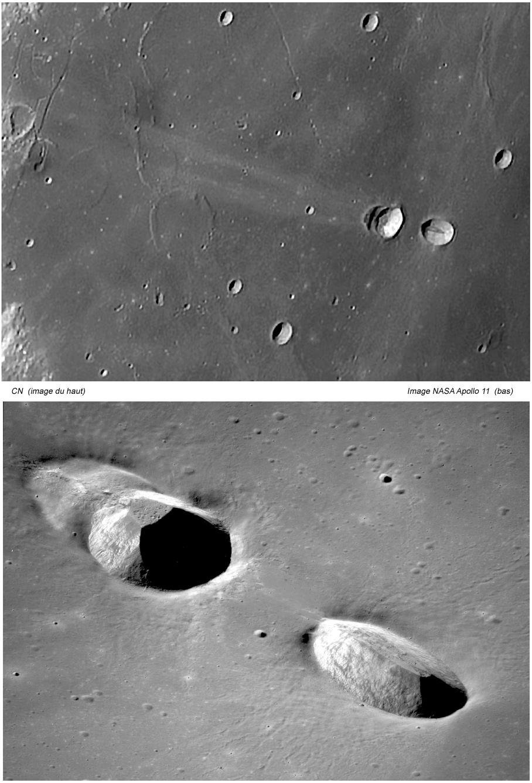 Messier et Messier A avec comparatif image Apollo 11