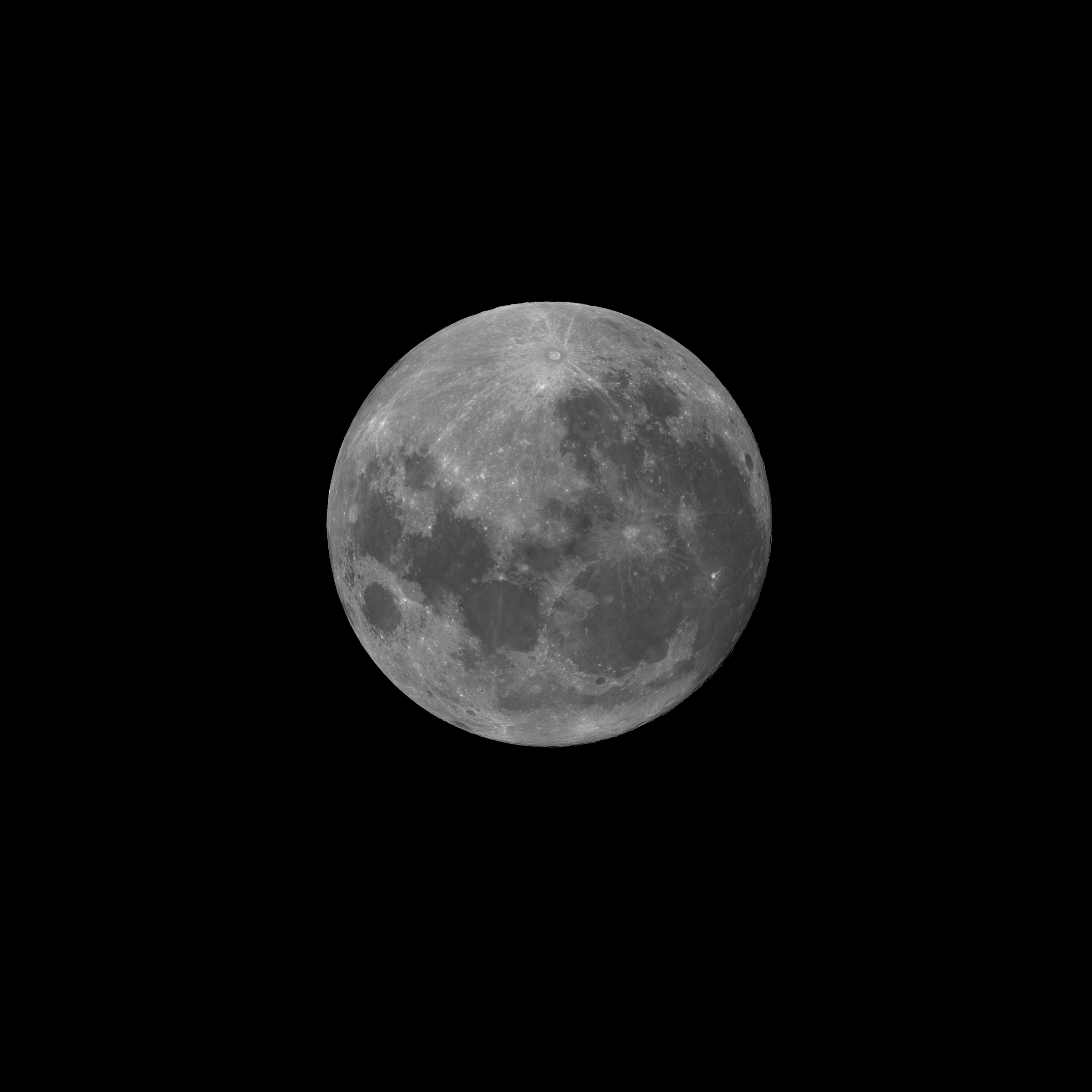 Pleine Lune du 1er Janvier 2018 - au Foyer de la TOA130 - mosaiques de 6 images