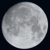 Lune du 1er Janvier au zoom Sigma 120-300 sur trépied et Nikon D810, à 600mm de focale