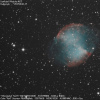 Dumbbell Nebula M27 (Shot from the city center of Reims)