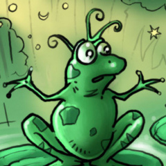 la grenouille en plastoc