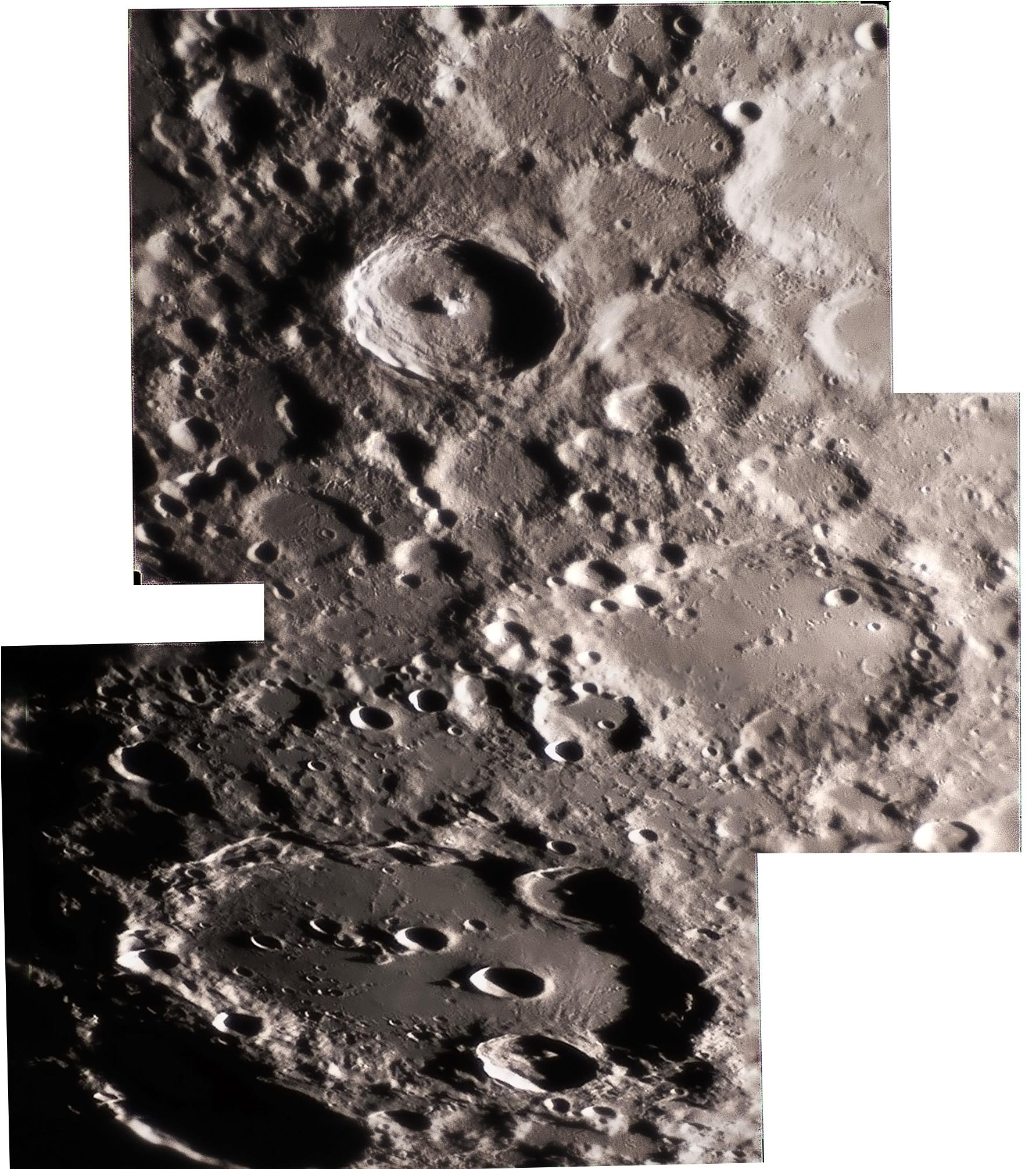mosaique-lunaire : Clavius, Maginus et Tycho du 24 fevrier 2018