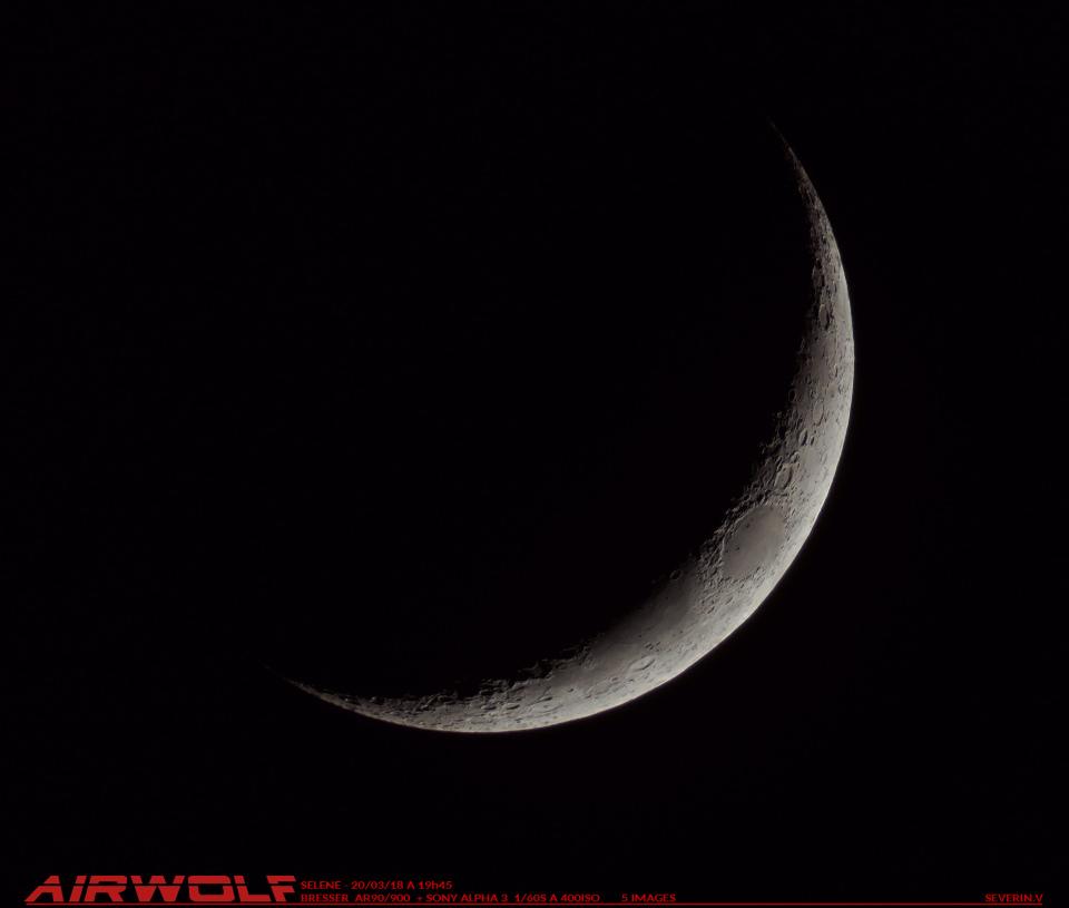 Lune de l'exquinoxe avec AIRWOLF 20/03/18