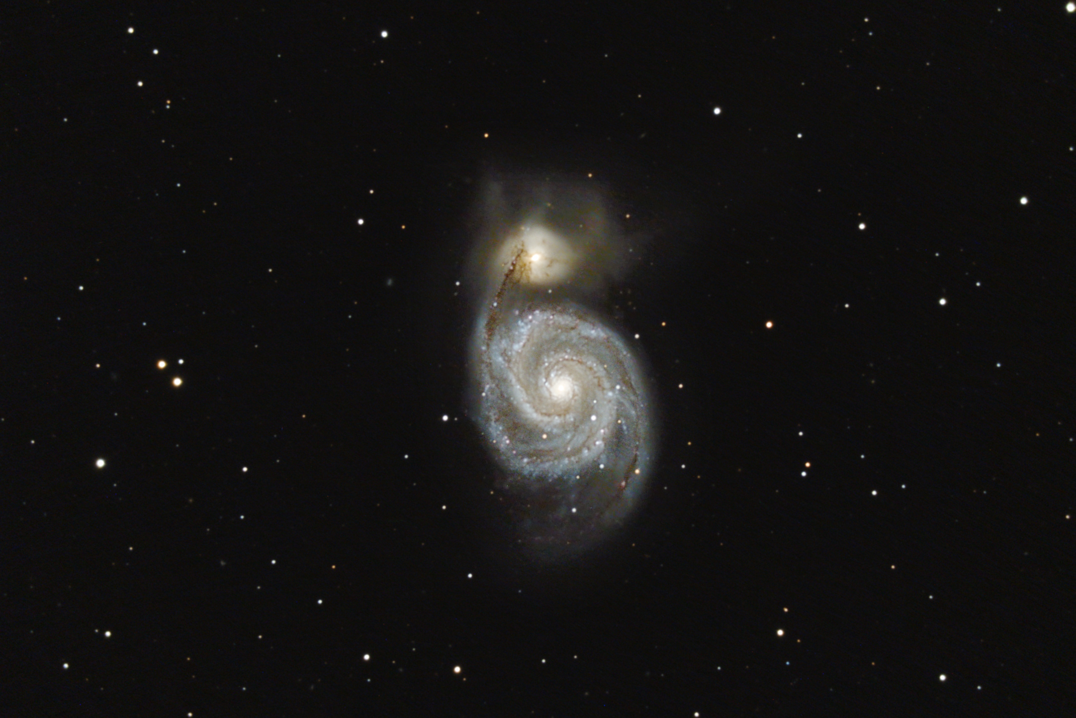 Galaxie spirale M51 et NGC5195