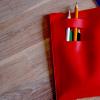 Poche pour le dessin (rouge)