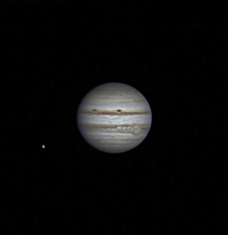 Jupiter avec Ganymède (Nov 2014)