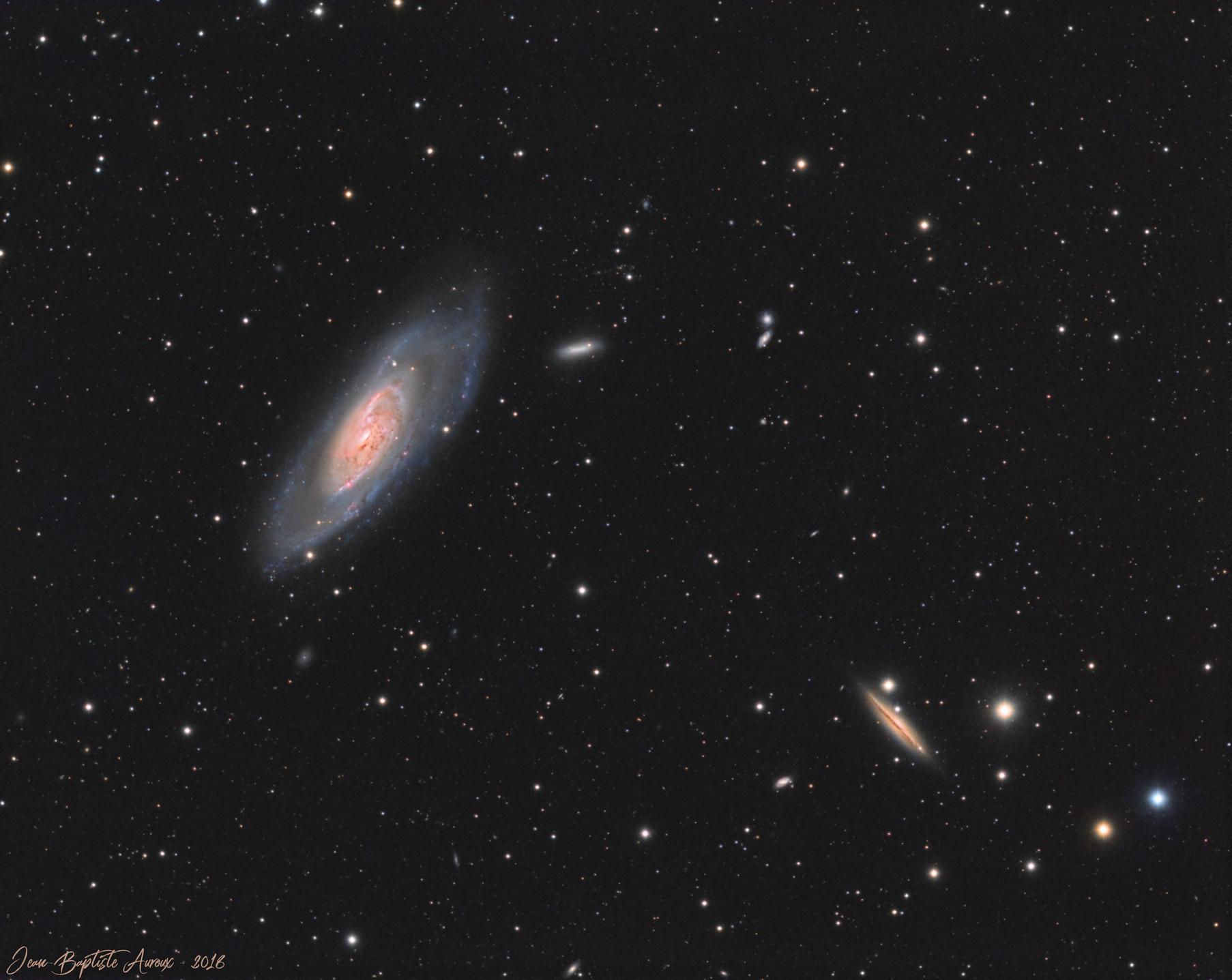 M106 & NGC4217