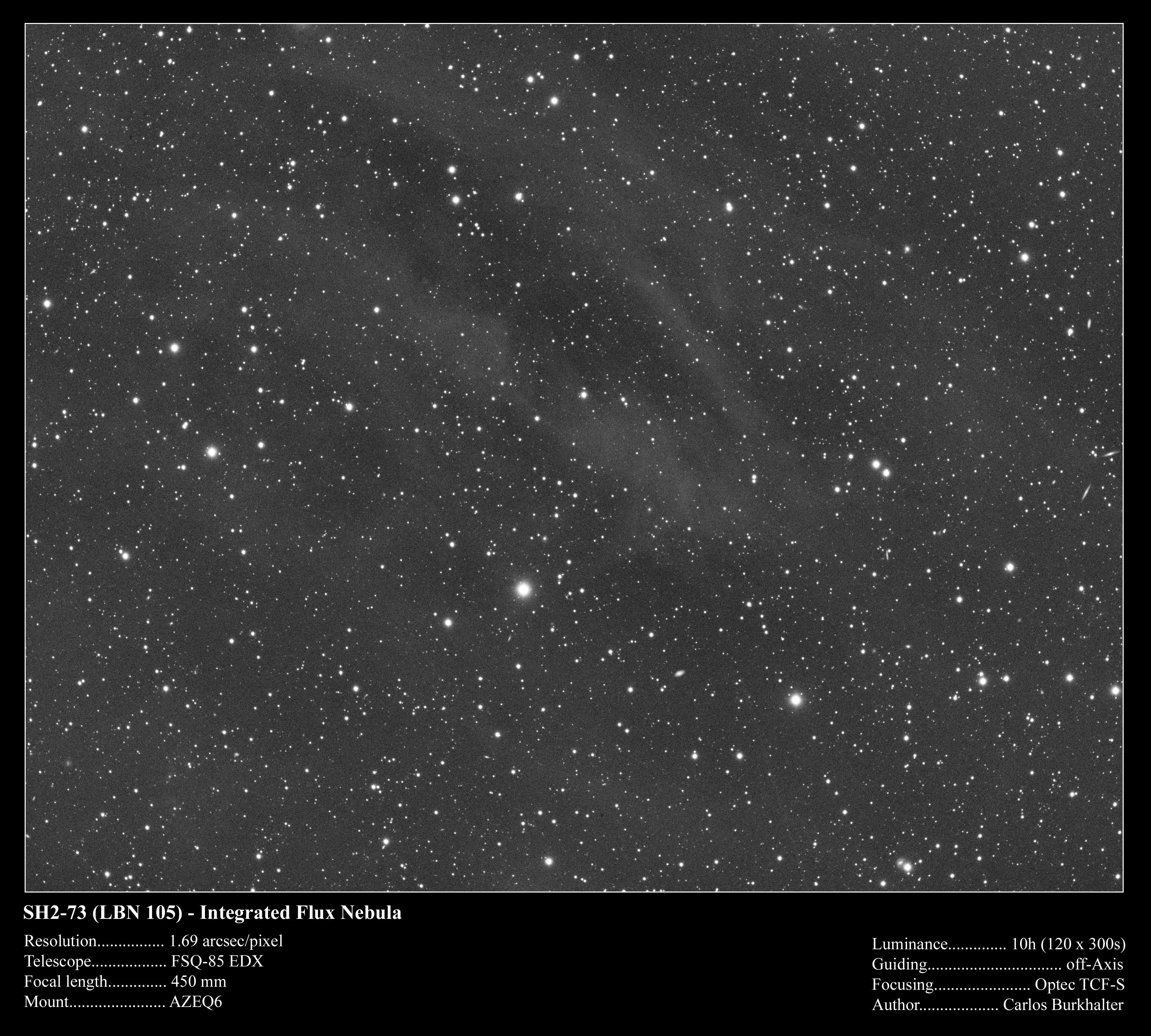Sh2-73 (LBN105) - Nébuleuse Rare
