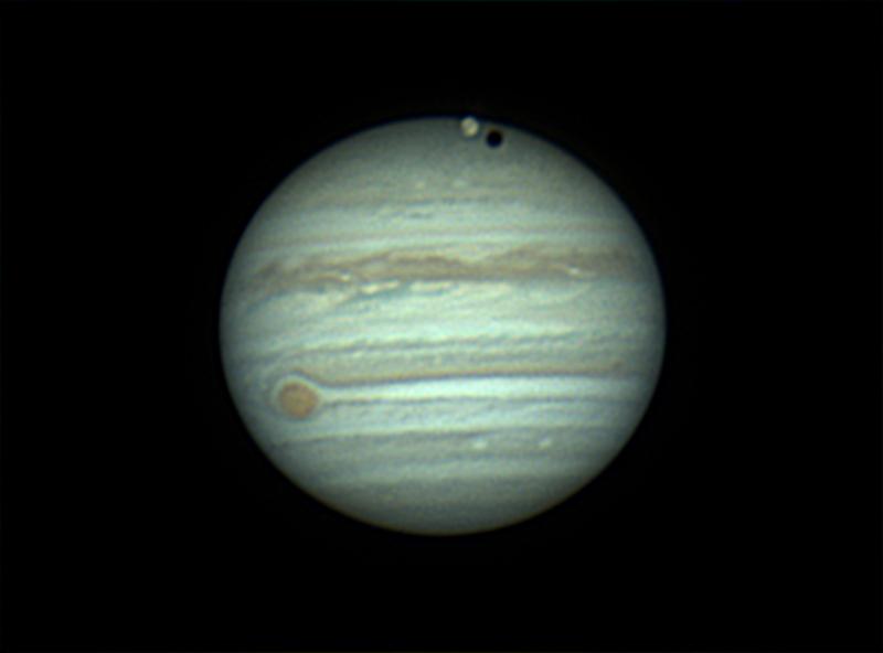 Jupiter et Ganymède  le  06/05/2018  à  22h32  TU   ,  N 400  .