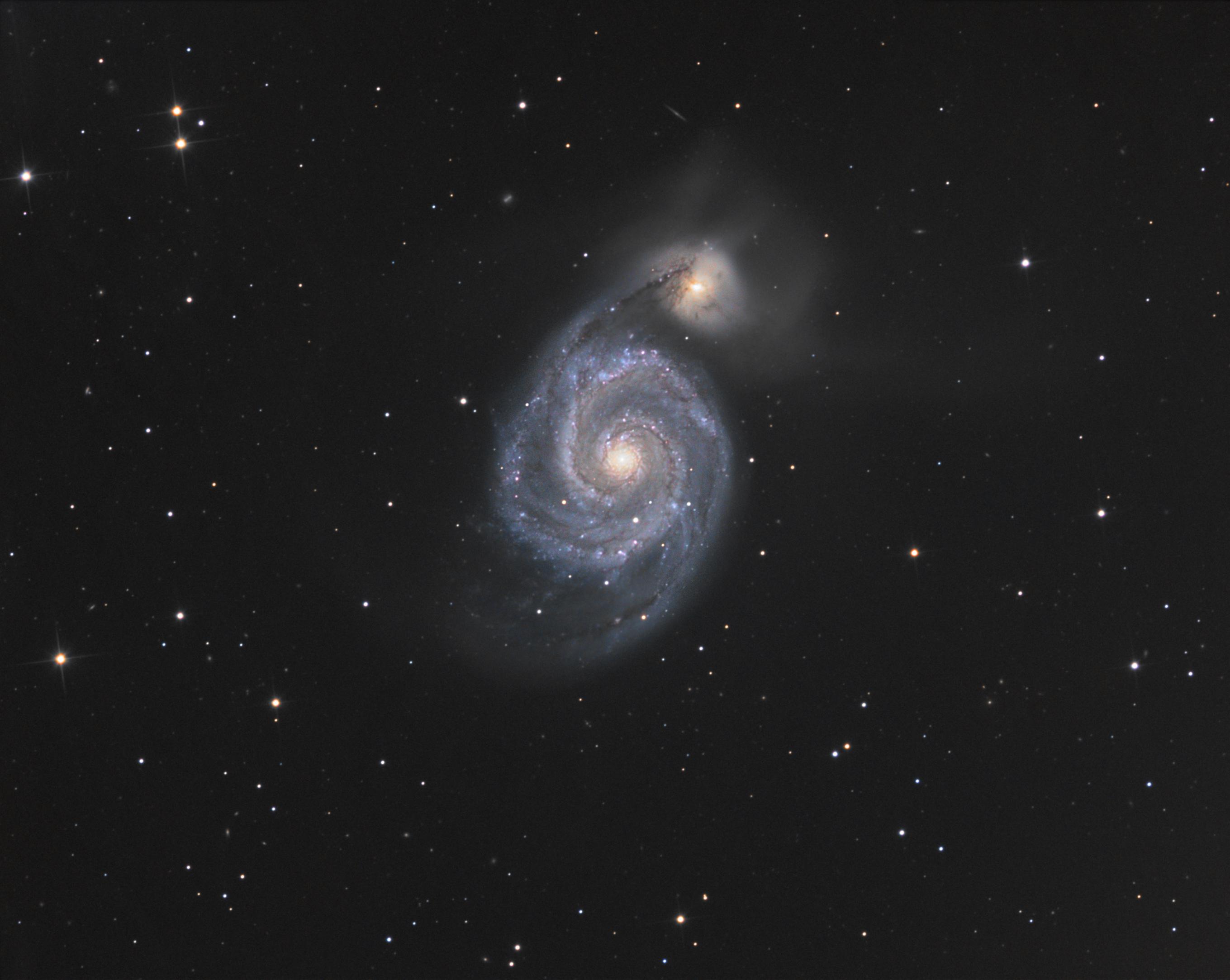 Messier 51, la galaxie des chiens de chasse