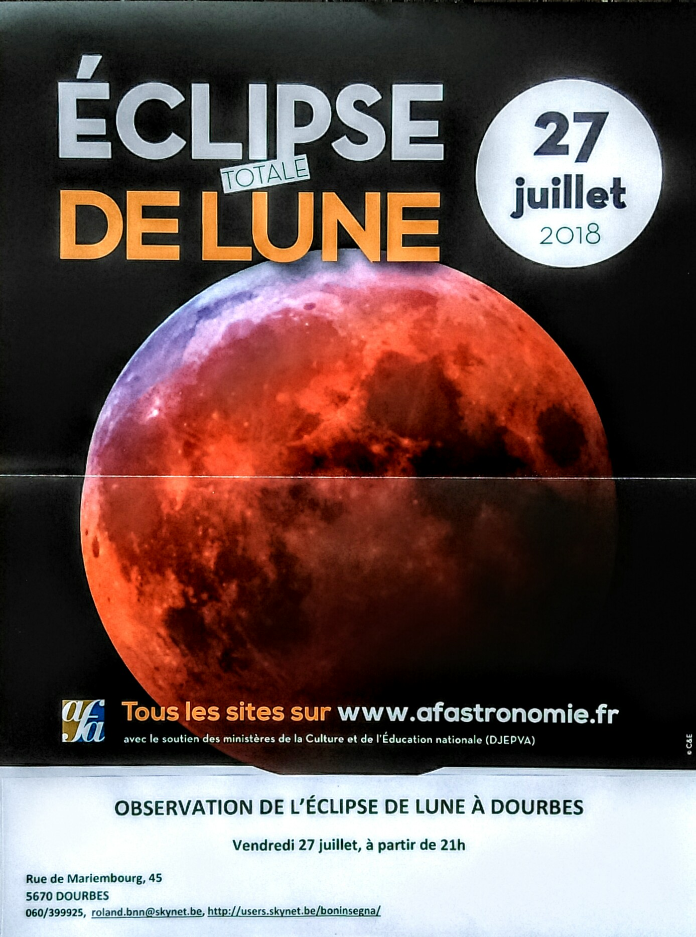 direction eclipse lune