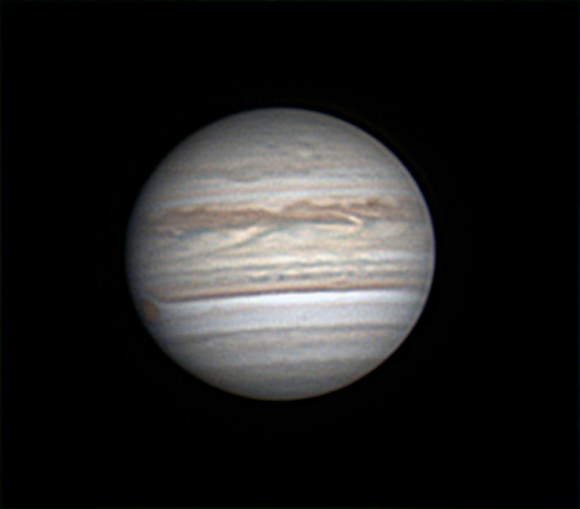 Jupiter  le  22/07/2018  ,  N400   ,  image  à  125%  .