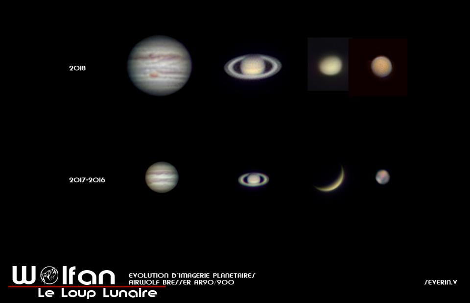 Les planètes au 90mm