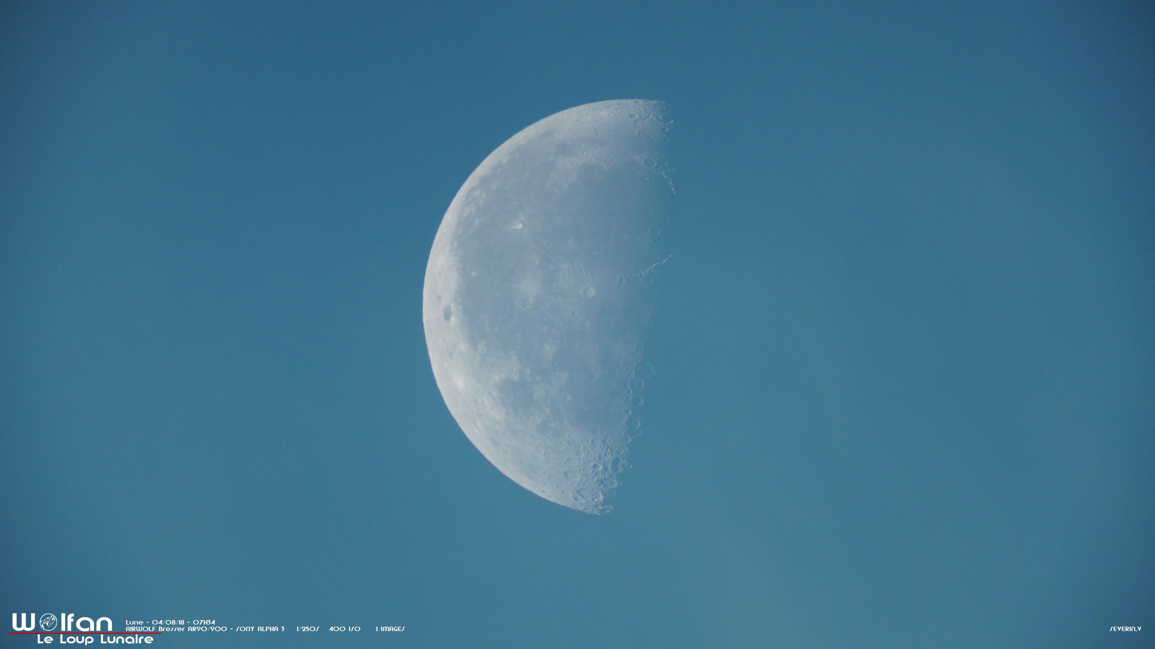 Lune du matin 04/08/18