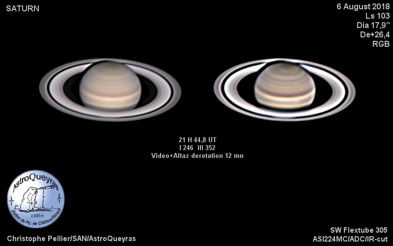Saturne en RVB à AstroQueyras