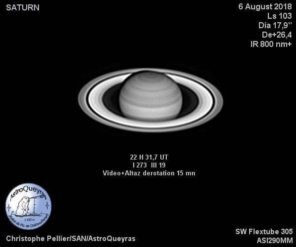 Saturne en IR800 à AstroQueyras