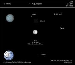 Uranus au T500 AstroQueyras, 11 août 2018