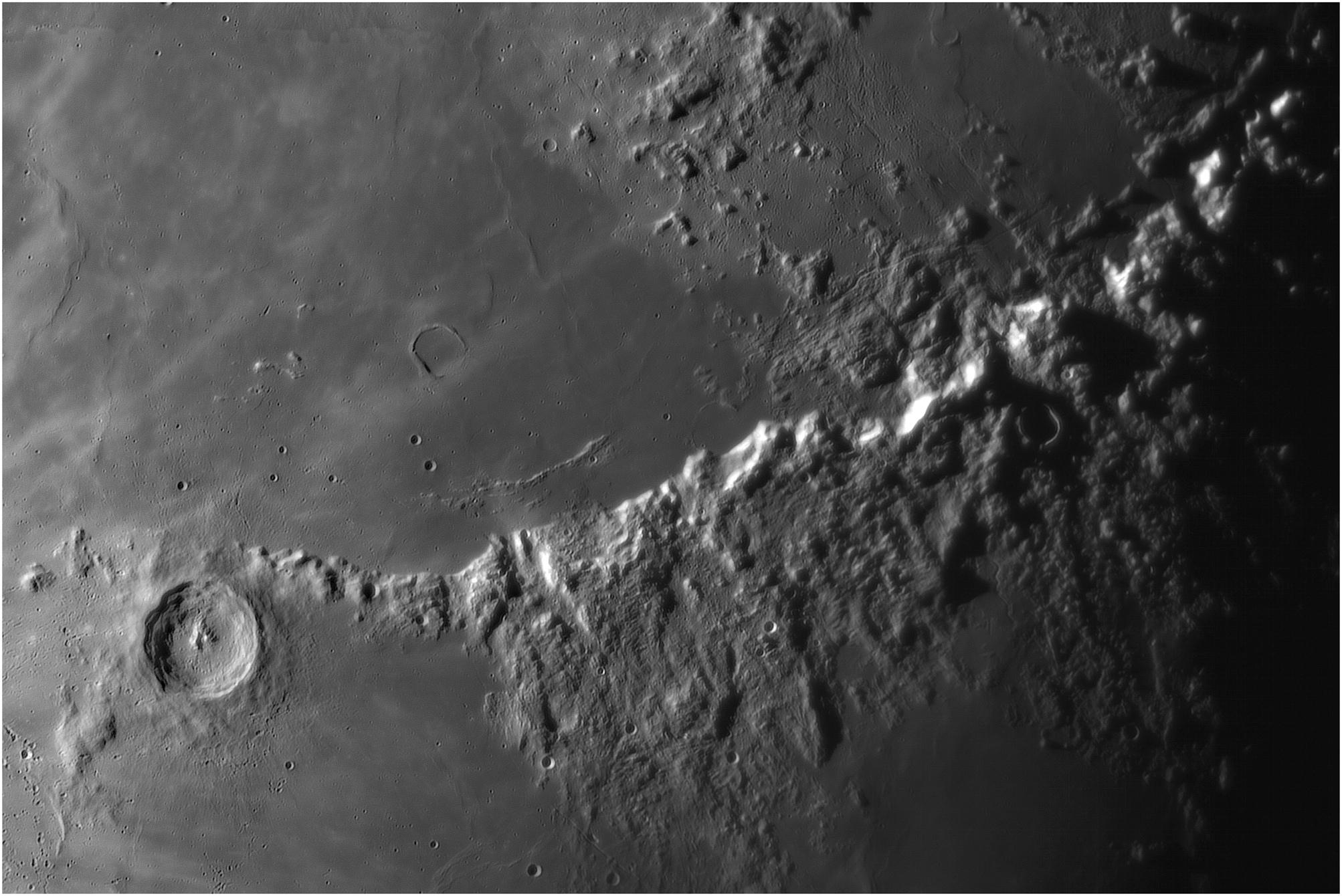 Eratosthène Apennins illuminés 66%