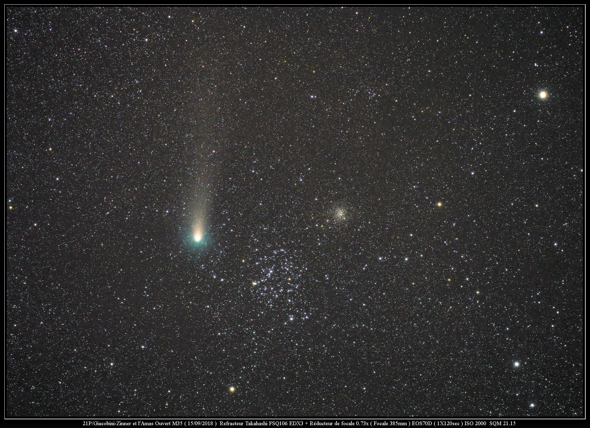 21P/Giacobini-Zinner VS M35