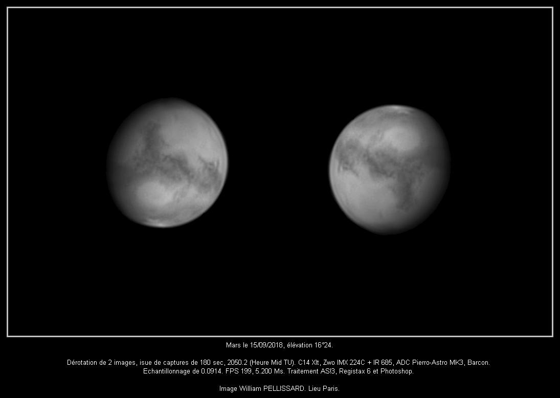 Mars du 15 septembre 2018, C14 Xlt.