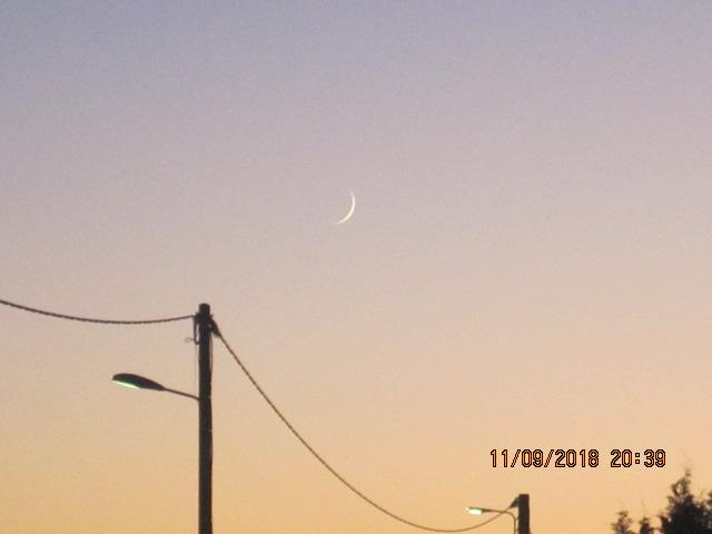Un fin croissant de Lune