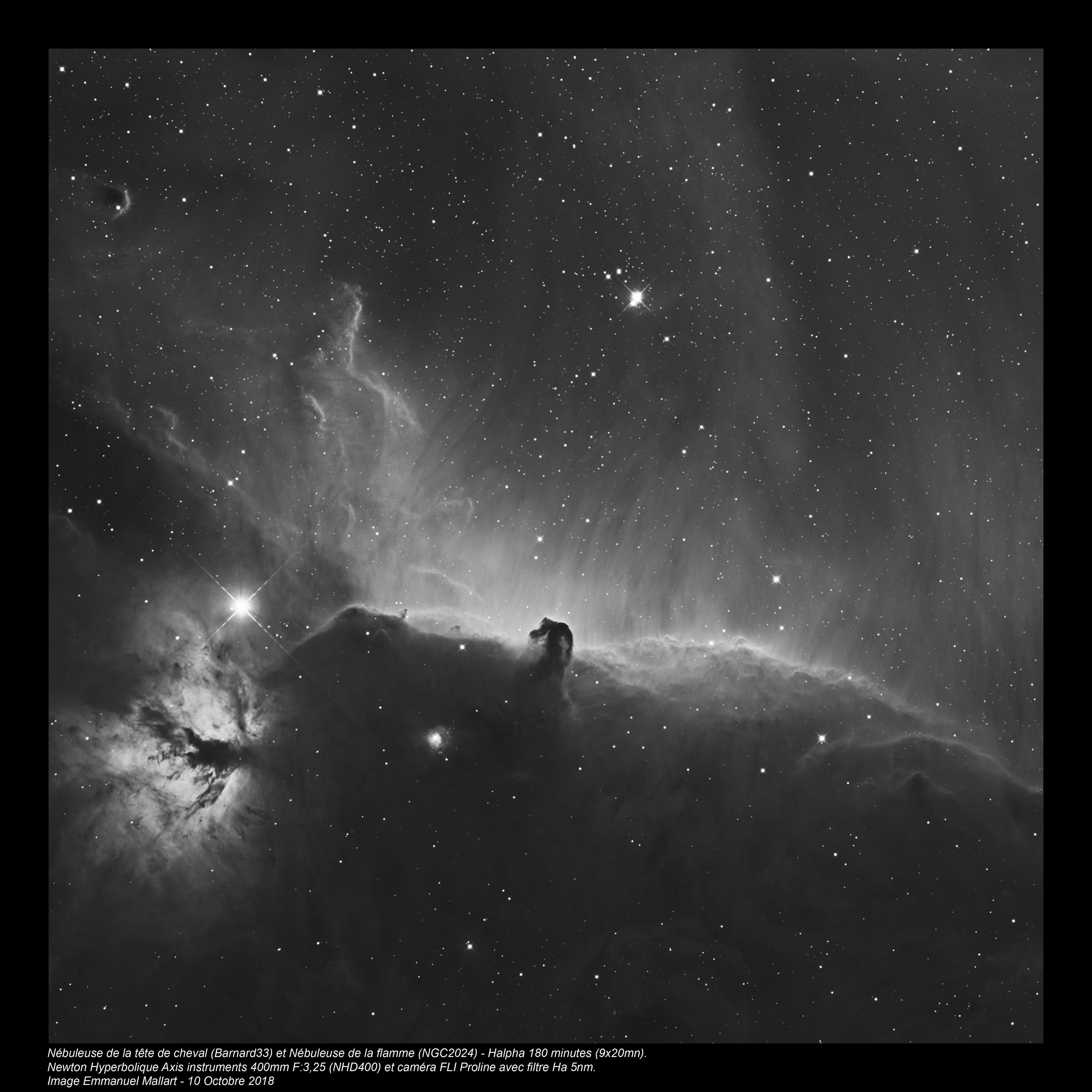 Barnard 33 et NGC2024 H-Alpha au NHD400