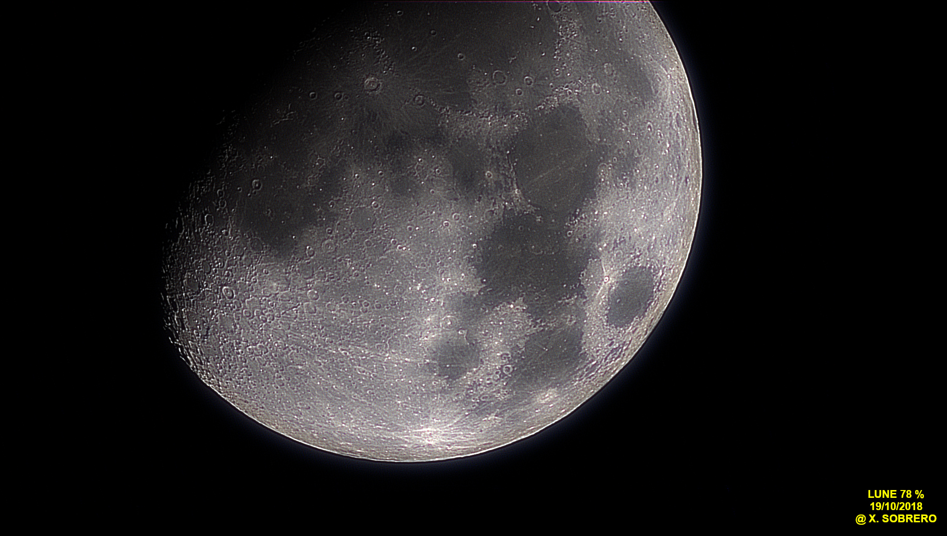 Lune à 78% du 19/10/2018