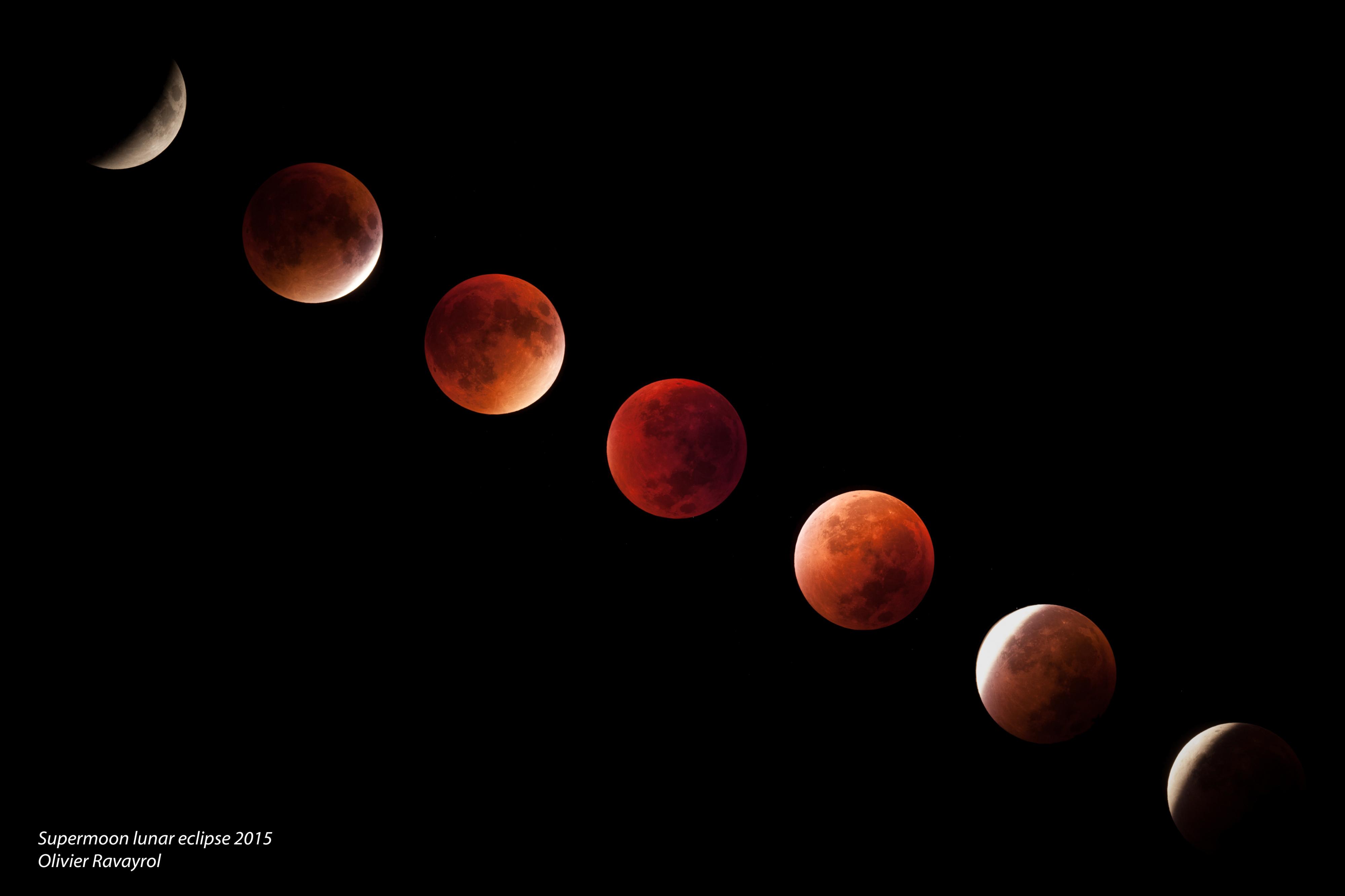 Eclipse lunaire 2015 (Mosaique)