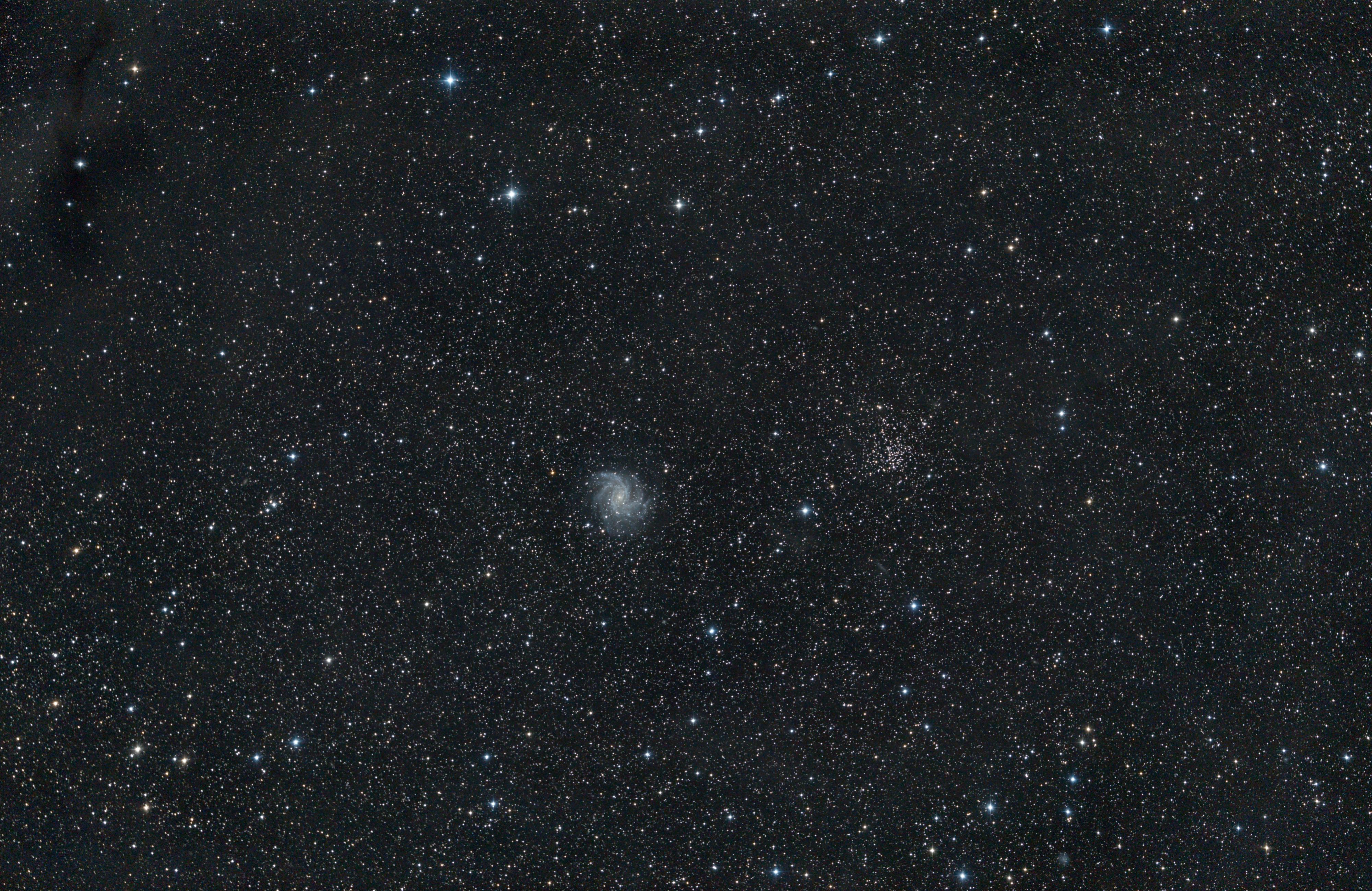 NGC 6946 et 6939, limite IFN