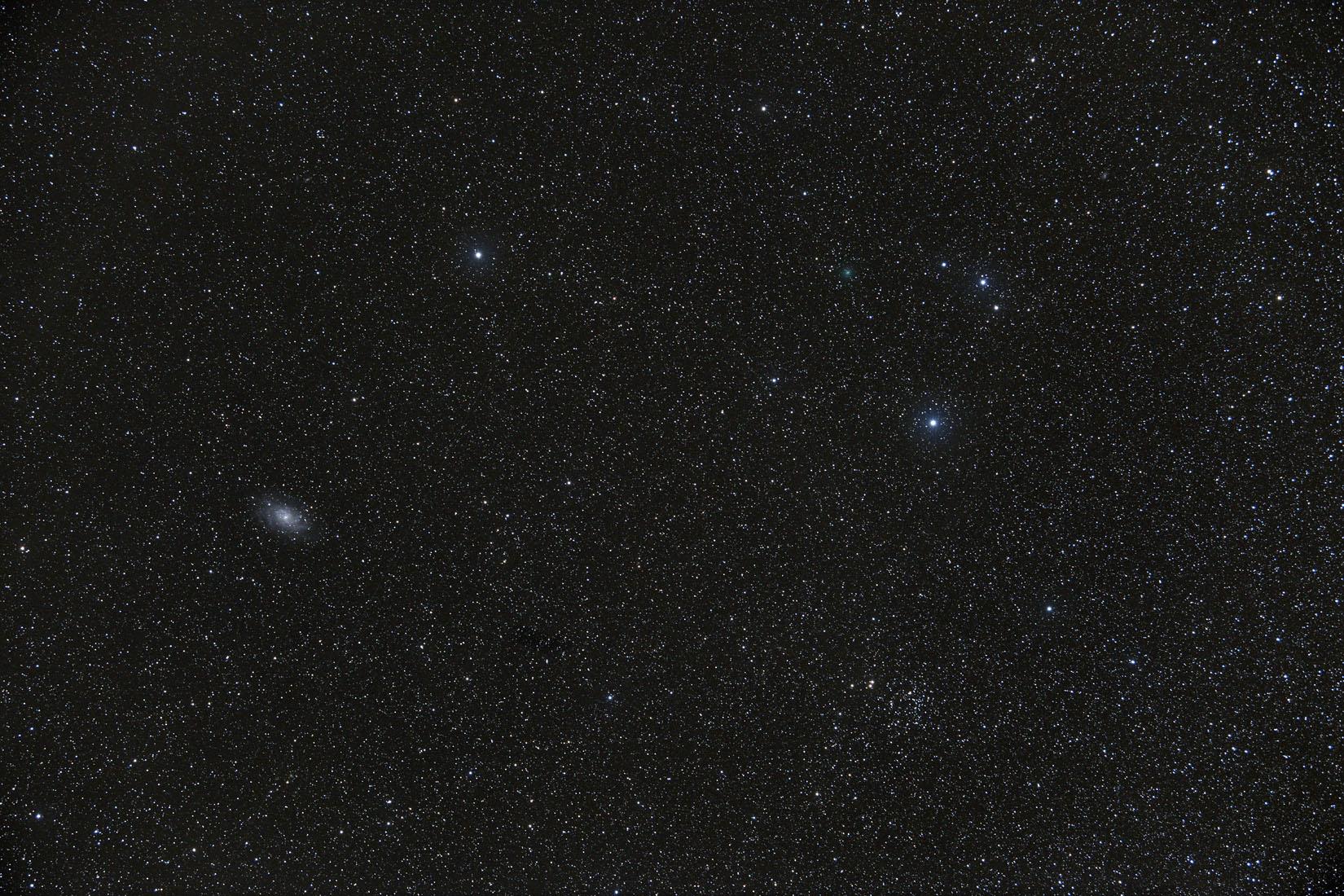 Comète 64P et M33