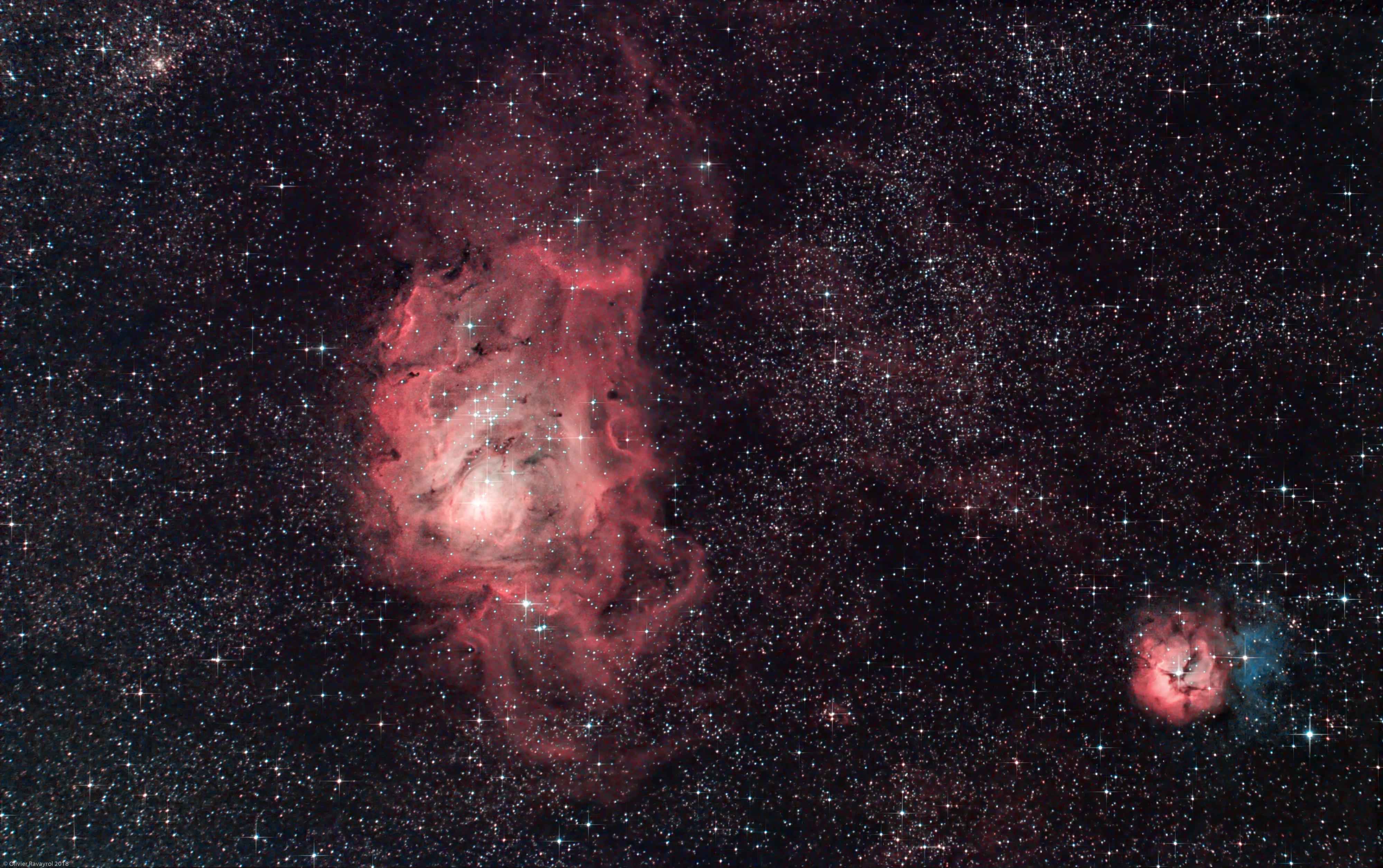 M8 & M20 - Nébuleuses du Lagon et Trifide (Ha-RGB)