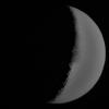 Croissant de Lune hier au PENTAX K20D 1/125sec. ima/5,8 300mm ISO 400 et ISO 6400