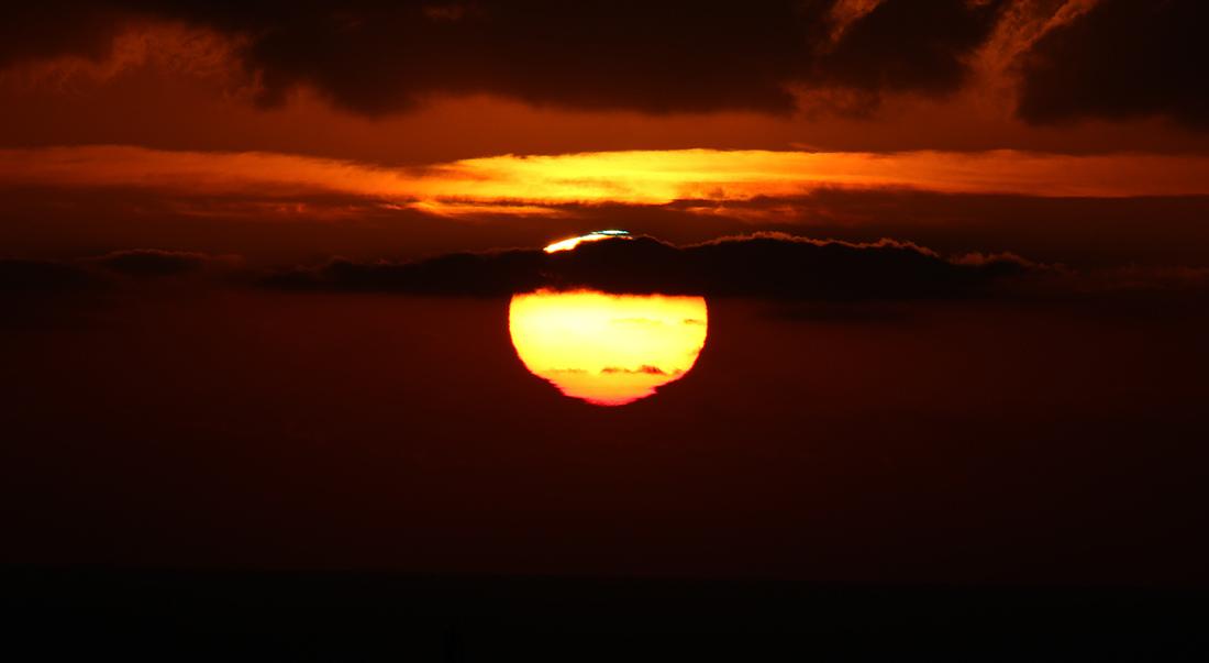 le soleil et son rayon vert, le 05/01/2019 (55233)