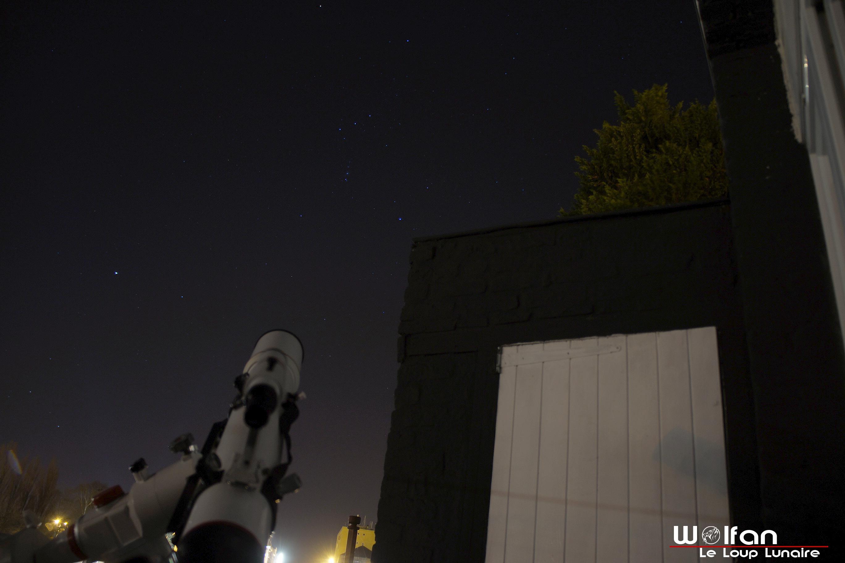 Orion et la lunette