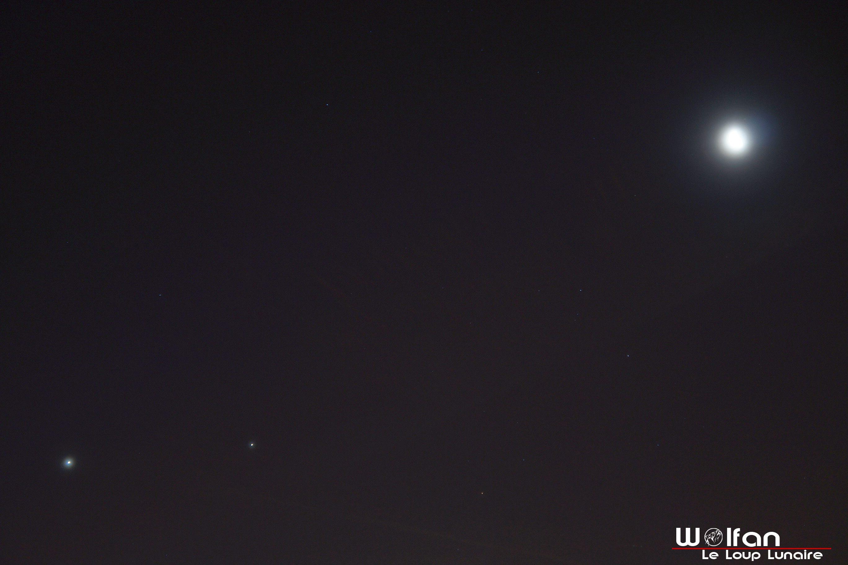 Rapprochement Vénus, Jupiter, Lune 29-01-19