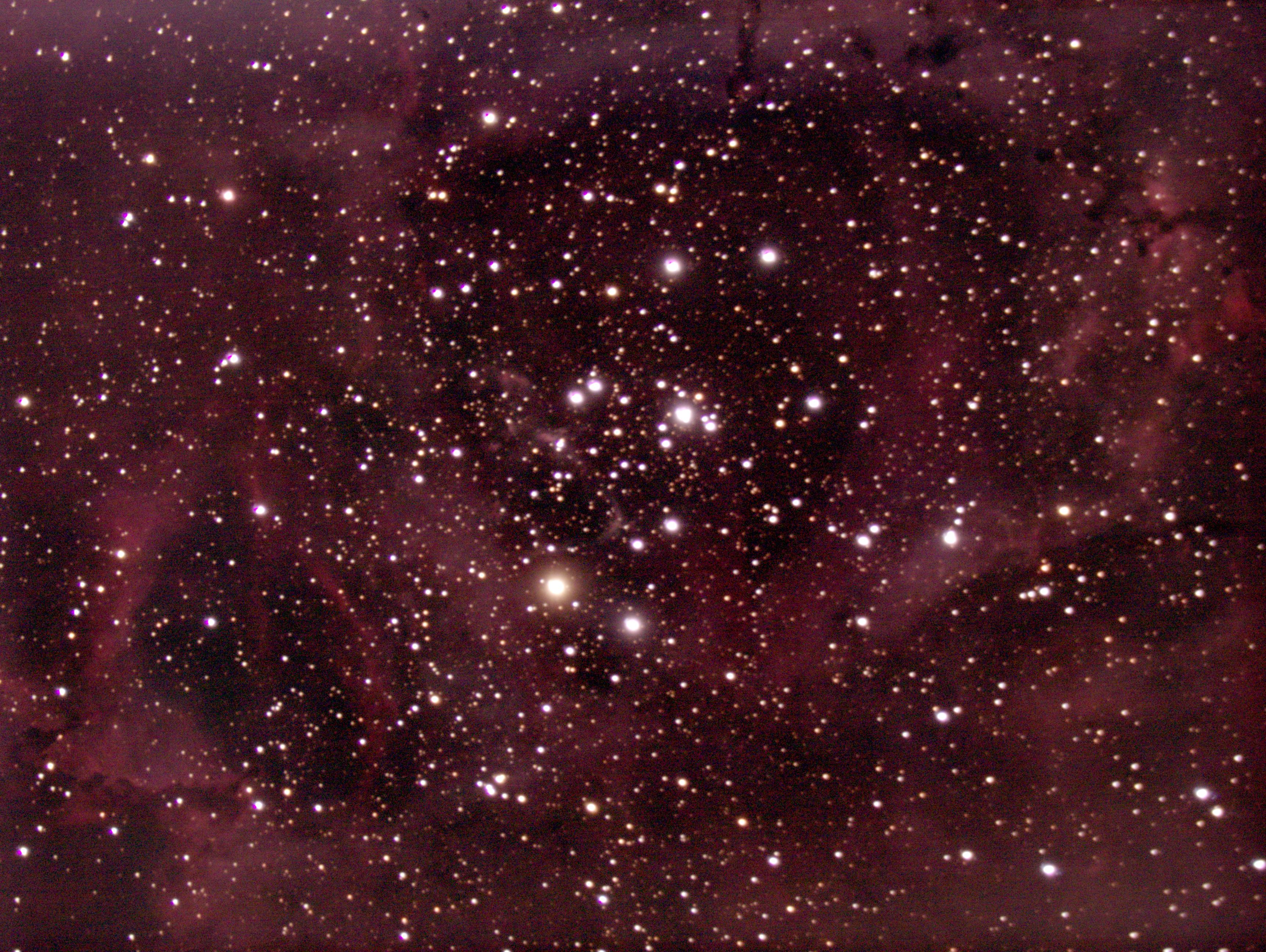 Nébuleuse de la Rosette + amas ouvert NGC2244