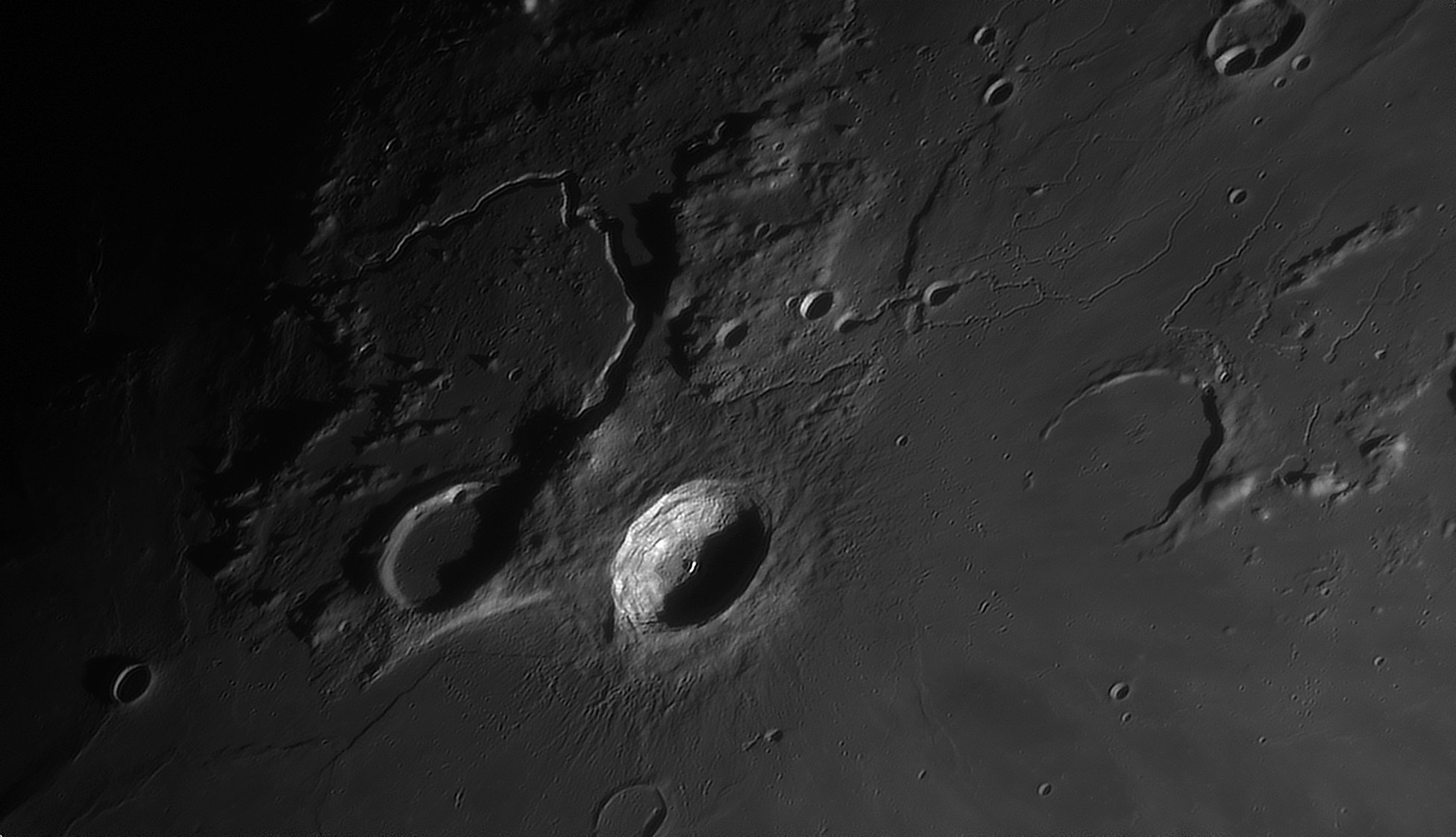 Lune 16/02/2019 C14 barlow 2X Clavé et ASI290 : Aristarque